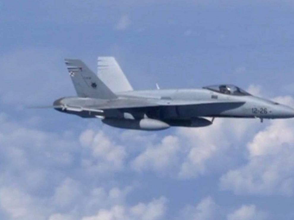 Rusia intercepta un F-18 español cerca de uno de sus aviones