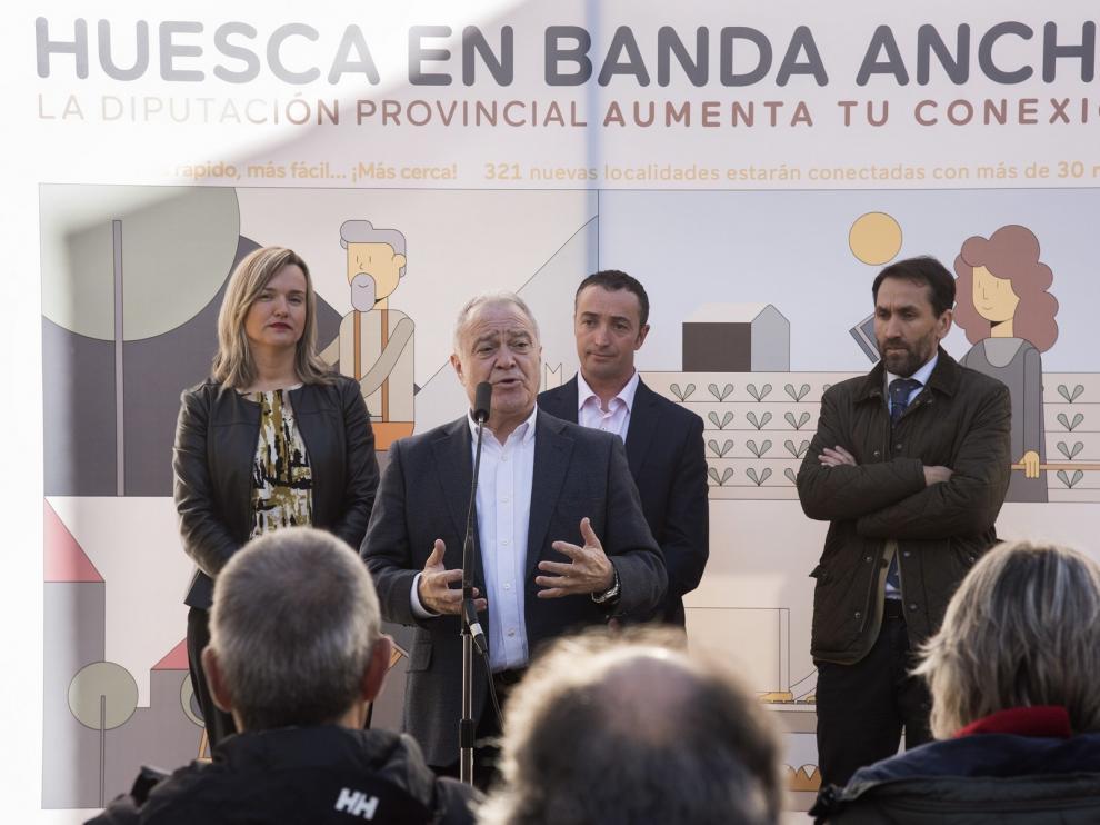 Más de 140 localidades de la provincia de Huesca disfrutan ya de banda ancha