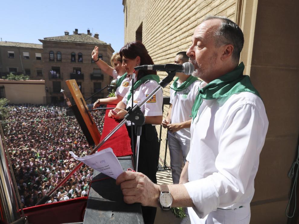 Ramón Lasaosa se muestra satisfecho con la asistencia de público a los actos de San Lorenzo 2019