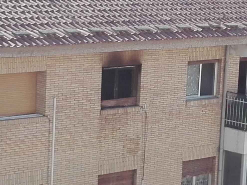 El herido en el incendio de León Abadias, grave en la UCI del San Jorge de Huesca