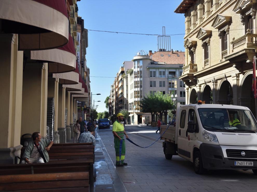 Vuelta a la normalidad en Huesca tras las fiestas de San Lorenzo