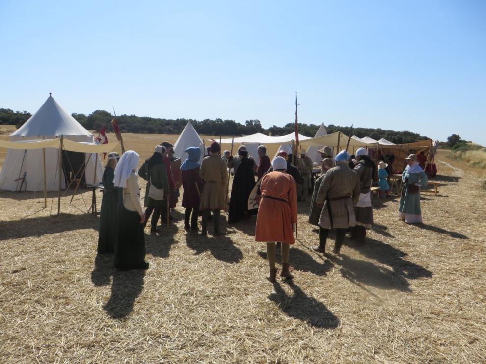 La recreación medieval de Foces atrae a 200 personas