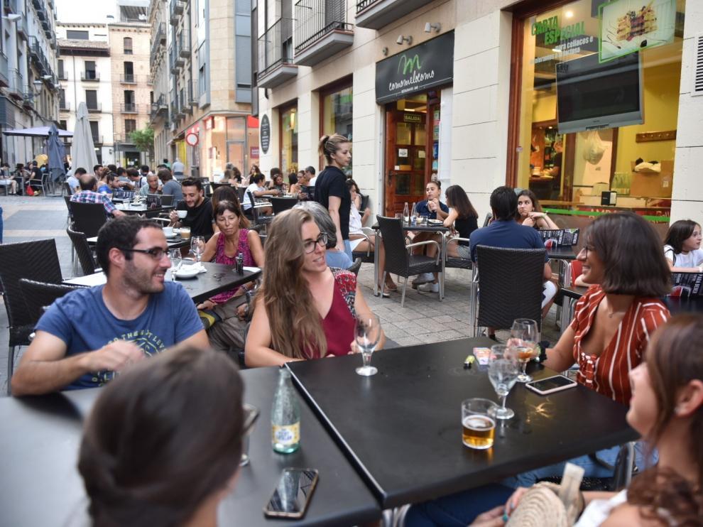 El sector de la hostelería de Huesca se toma un parón de pocos días y vuelve a enganchar