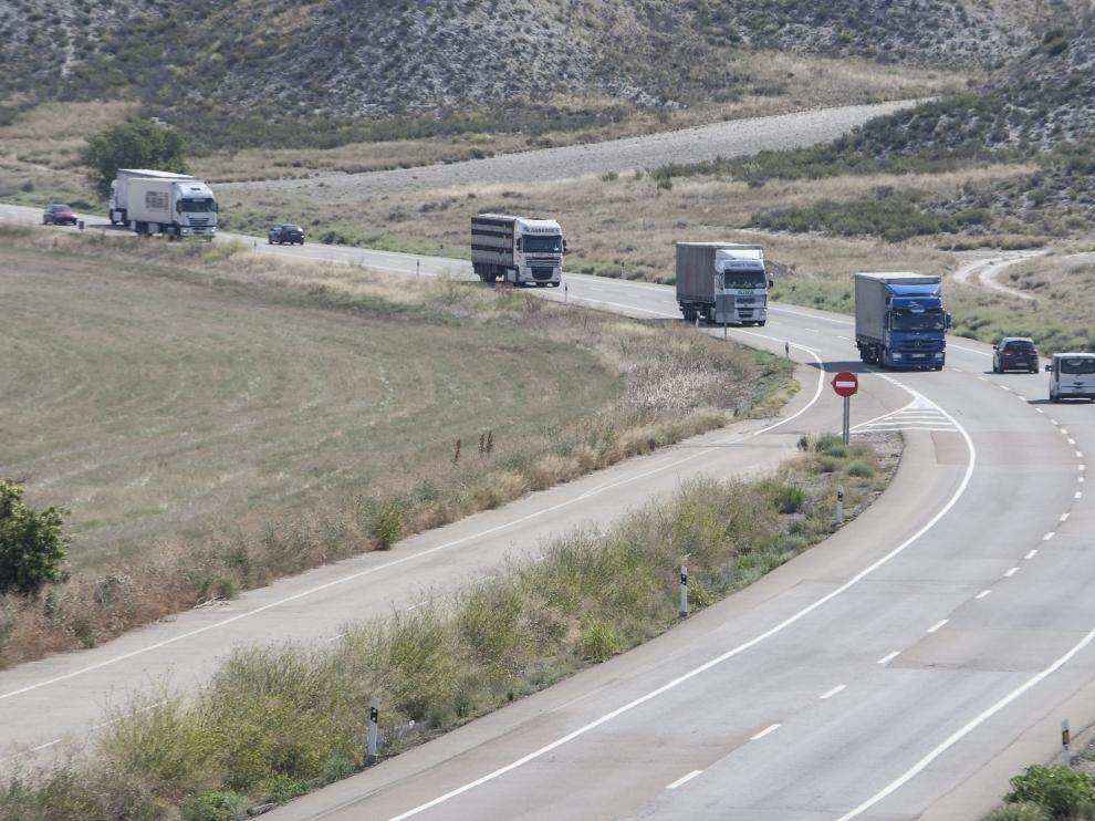 Dos heridos en un accidente de tráfico en el término municipal de Fraga