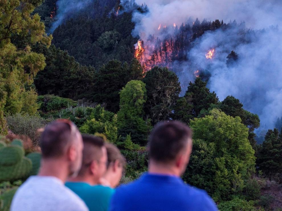 El incendio de Gran Canaria avanza y llega hasta Tamadaba
