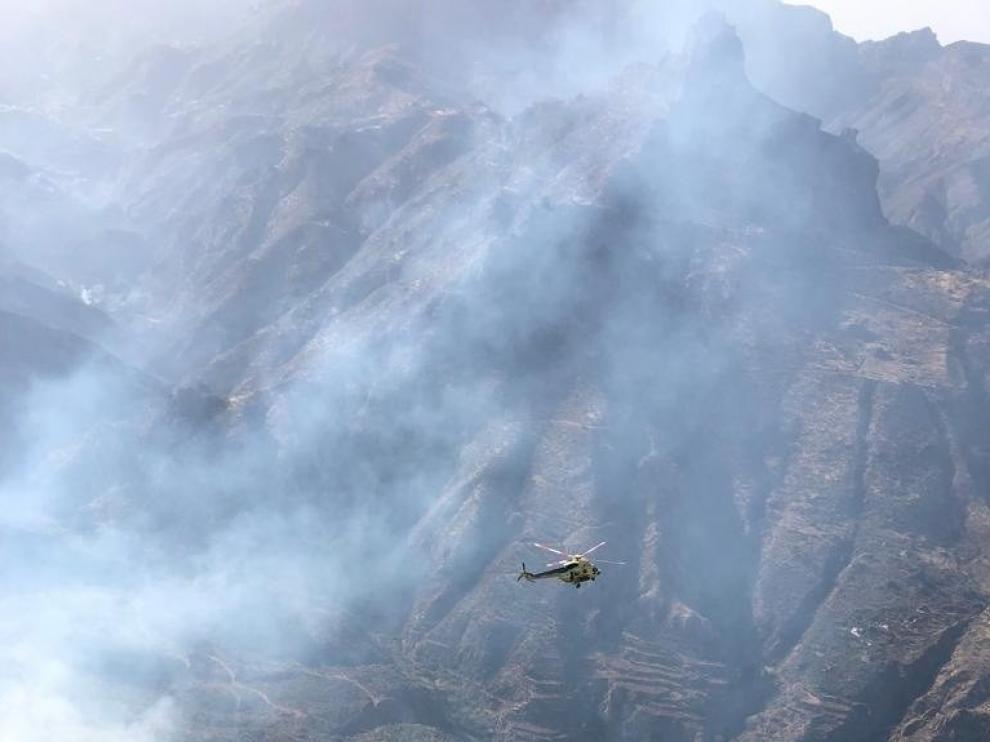 Más de 6.000 hectáreas afectadas en el incendio de Gran Canaria en dos días