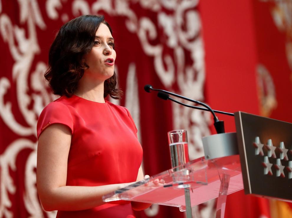 """Ayuso promete gobernar Madrid desde """"la transparencia en la gestión, eficacia y la austeridad en el gasto público"""""""