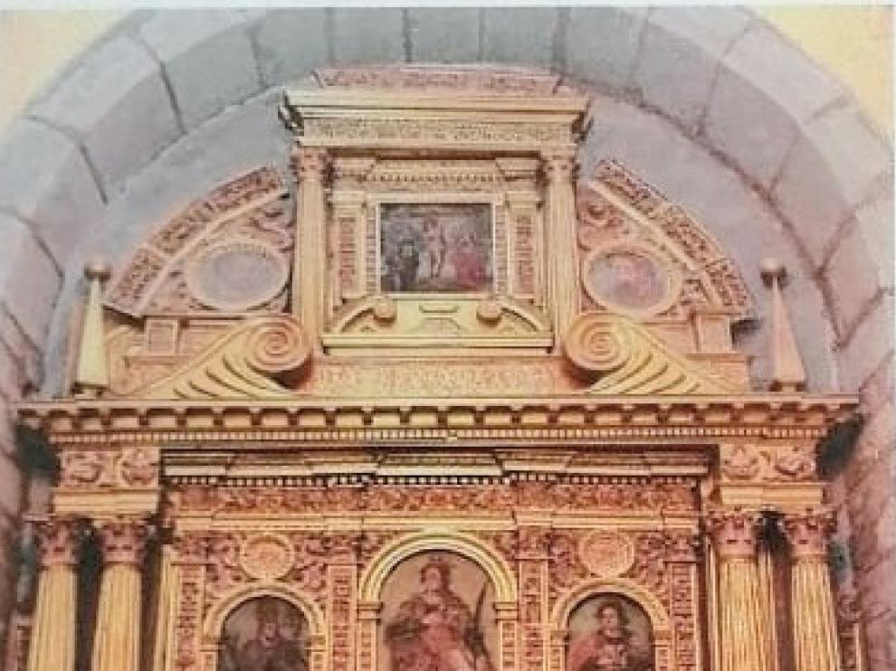 Yebra de Basa quiere restaurar el retablo de Santa Orosia para 2020