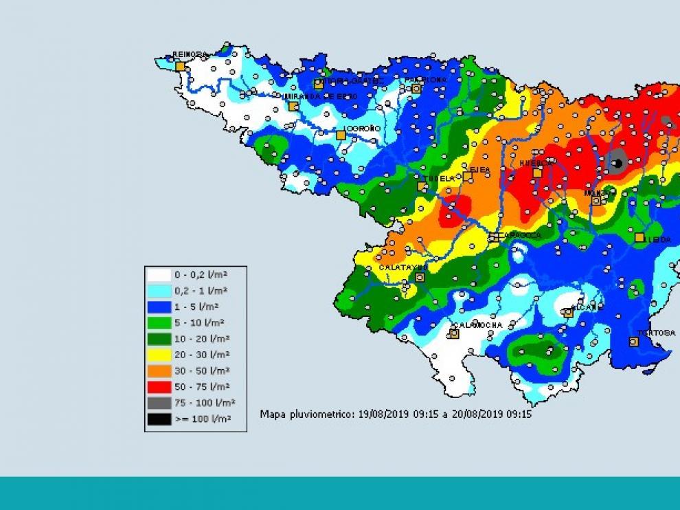 Protección Civil recomienda precaución ante las lluvias y tormentas en Aragón