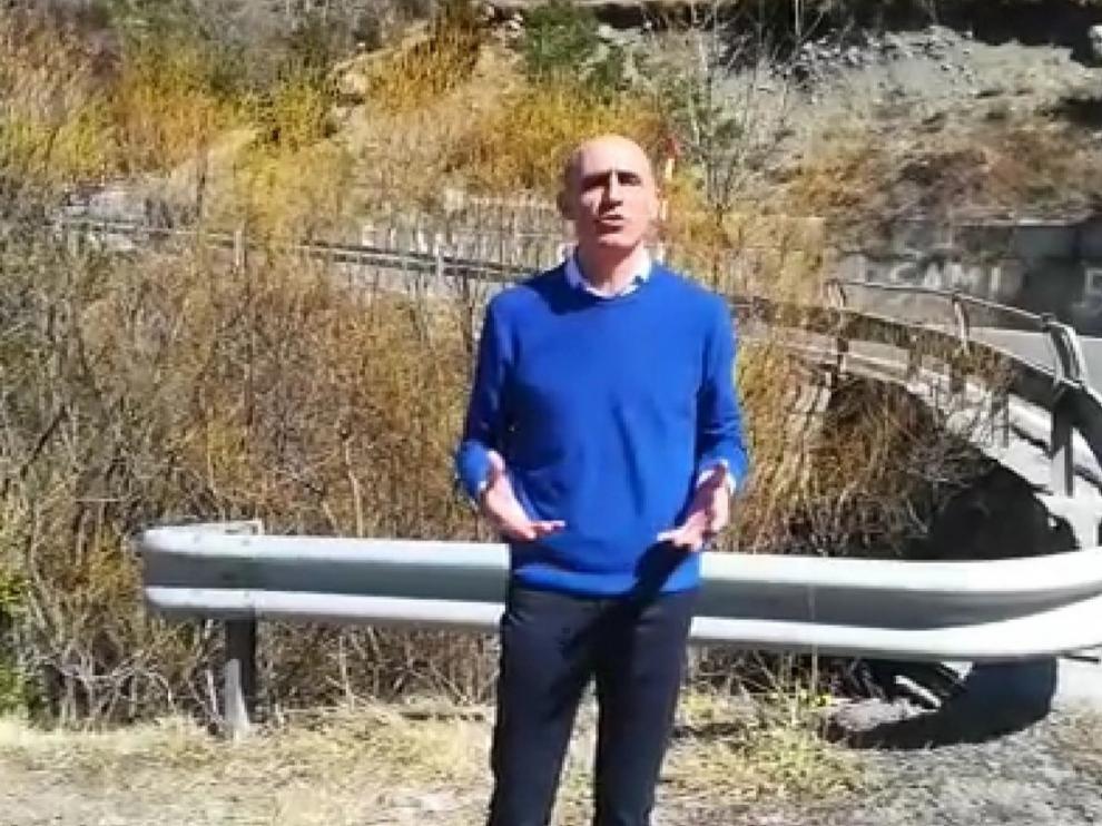 Manuel Mora, portavoz del PP en el Ayuntamiento de Benasque, mediará para la mejora de carreteras