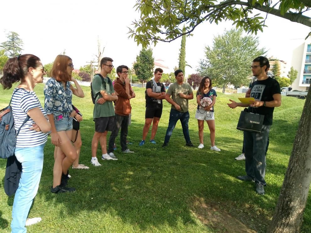 Reanudados los paseos guiados por parques y zonas verdes de Huesca
