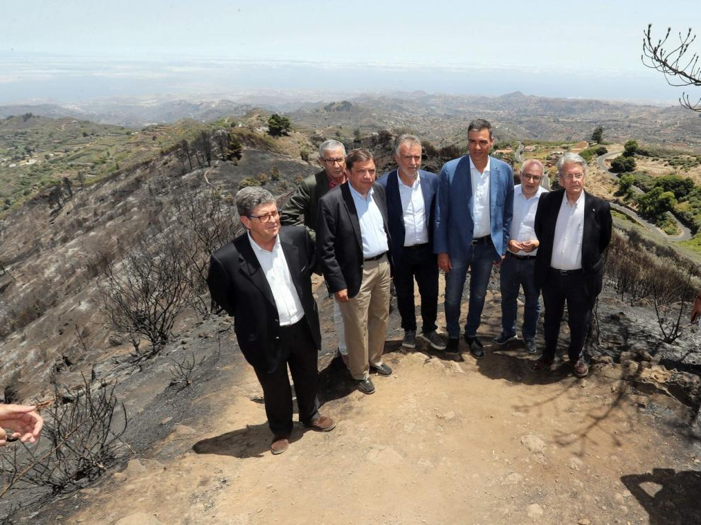 Pedro Sánchez garantiza a Gran Canaria la ayuda del Estado para su recuperación