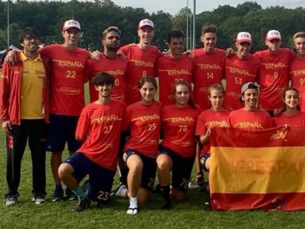 España, con el oscense Pelay, plata en el Europeo sub20 de Ultimate