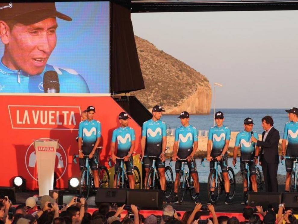 Sin Carapaz, Valverde y Quintana retan a Roglic y López