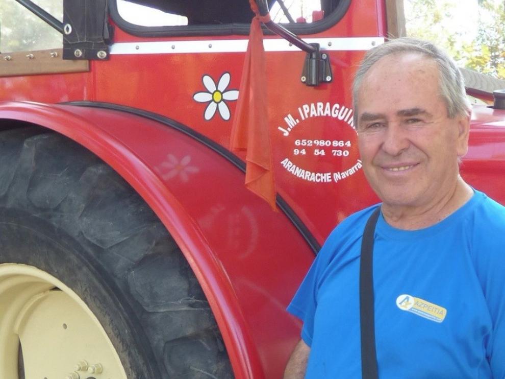 """Manolo Iparaguirre: """"Mantener 80 tractores lleva tiempo, dinero y sacrificio personal"""""""