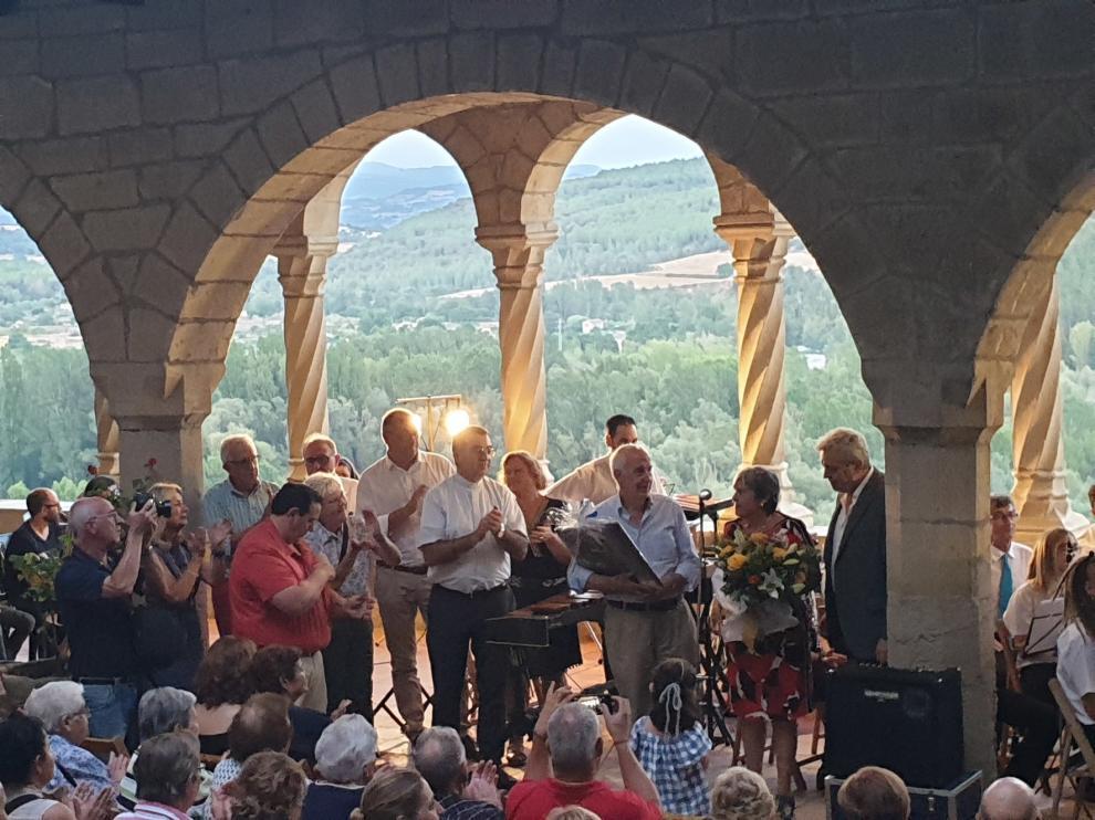 Música en la basílica de la Peña en el homenaje a Antonio Baldellou