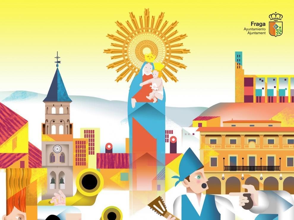 Fraga anuncia sus fiestas con un colorista cartel