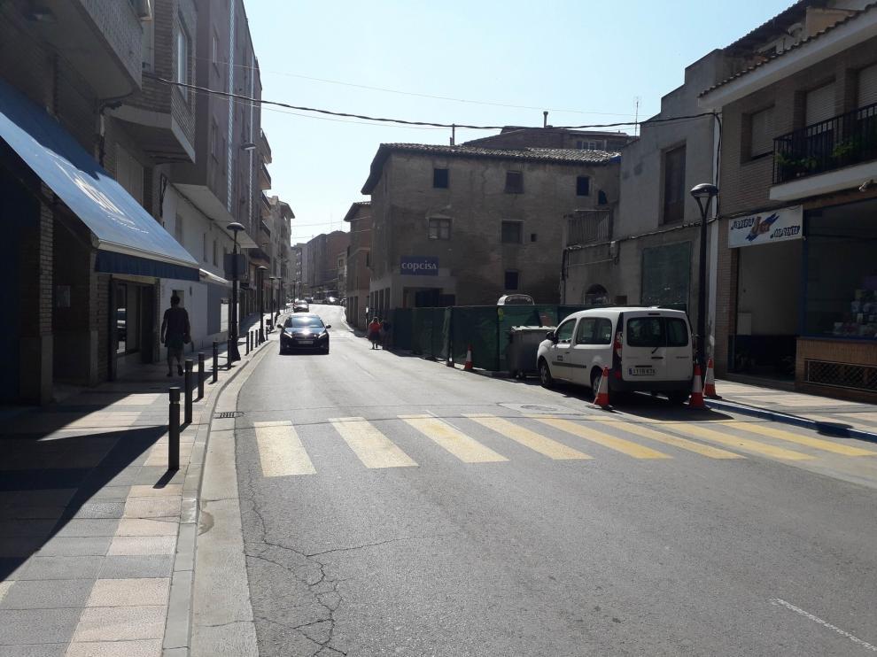 La calle Santa Bárbara de Monzón tendrá paso alternativo este jueves por la reparación de un socavón