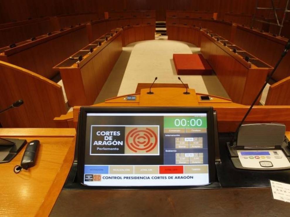 Las Cortes de Aragón celebrarán el primer pleno el día 5, sin asuntos ordinarios