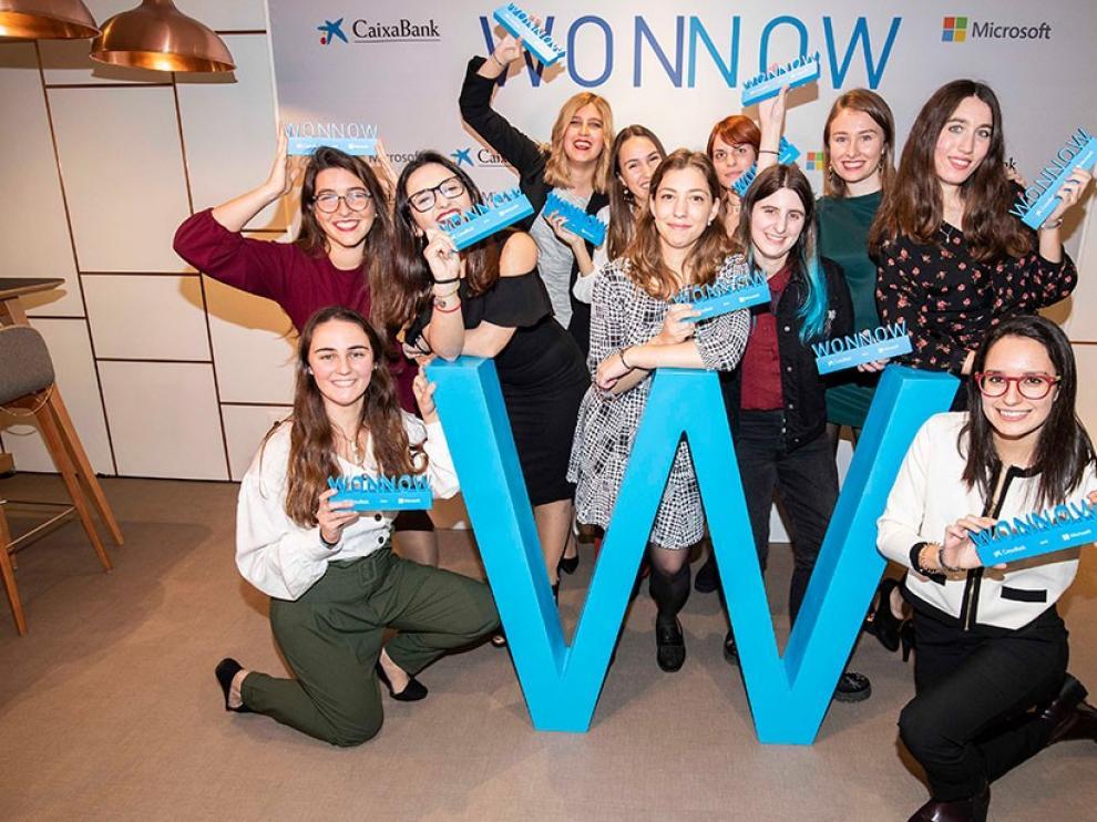 Once alumnas aragonesas participan en los WONNOW