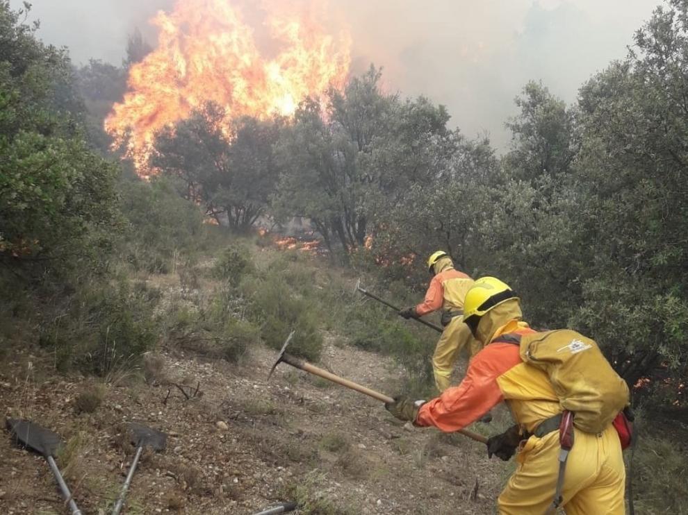 Alerta naranja por peligro de incendios forestales en el Somontano Occidental