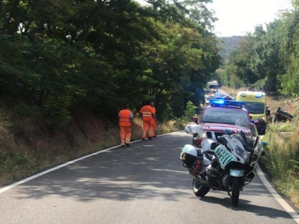 Fallece la mujer herida de gravedad en un accidente en Jarque