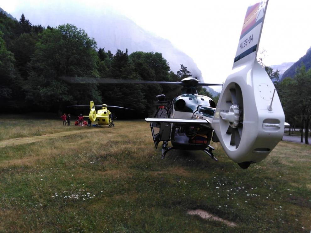 Muere un montañero francés en el Parque de Ordesa, al caer 100 metros en la Forqueta de los Gabietos