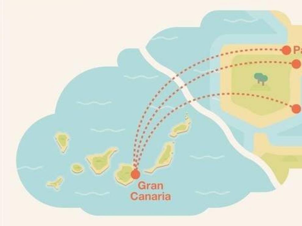 Binter vende vuelos entre Zaragoza y Canarias