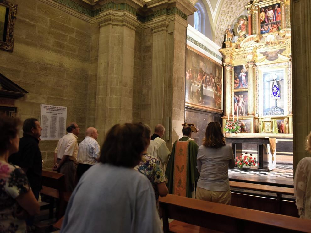 La Basílica de San Lorenzo de Huesca honrará al patrón de la ciudad con aforo reducido y controlado
