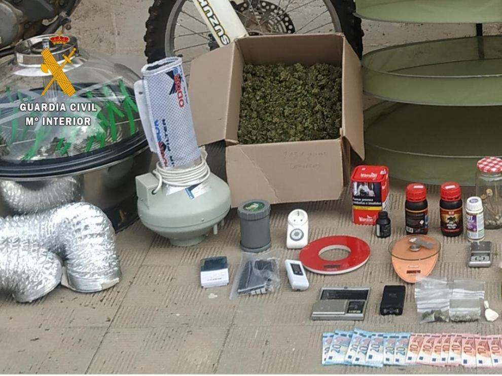 La Guardia Civil desarticula un punto de venta de drogas en Binéfar que había causado gran alarma social