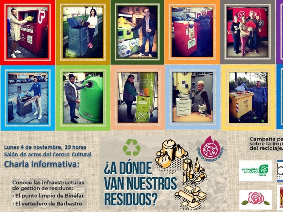 Binéfar lanza una campaña sobre el reciclado de residuos