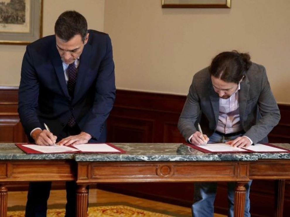 Sánchez e Iglesias presentan esta tarde su acuerdo programático de Gobierno