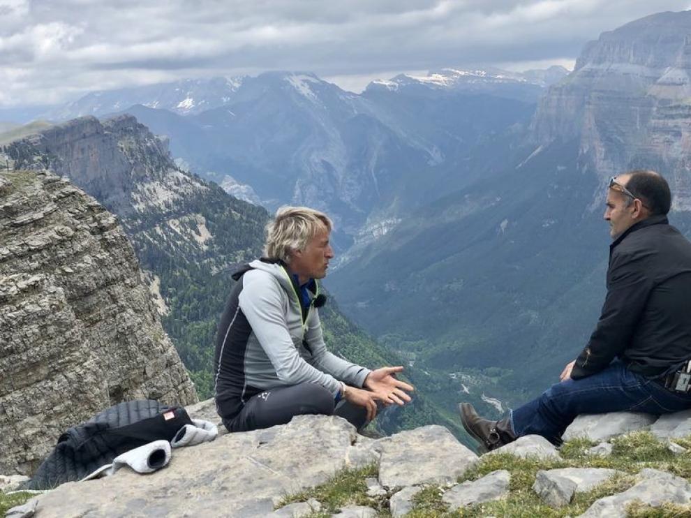 Jesús Calleja visitó este domingo Ordesa y Monte Perdido con su programa Volando Voy