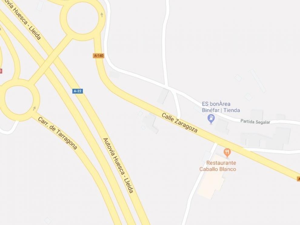 Muere un joven de Belver de Cinca de 25 años al caer con un coche en el Canal de Zaidín