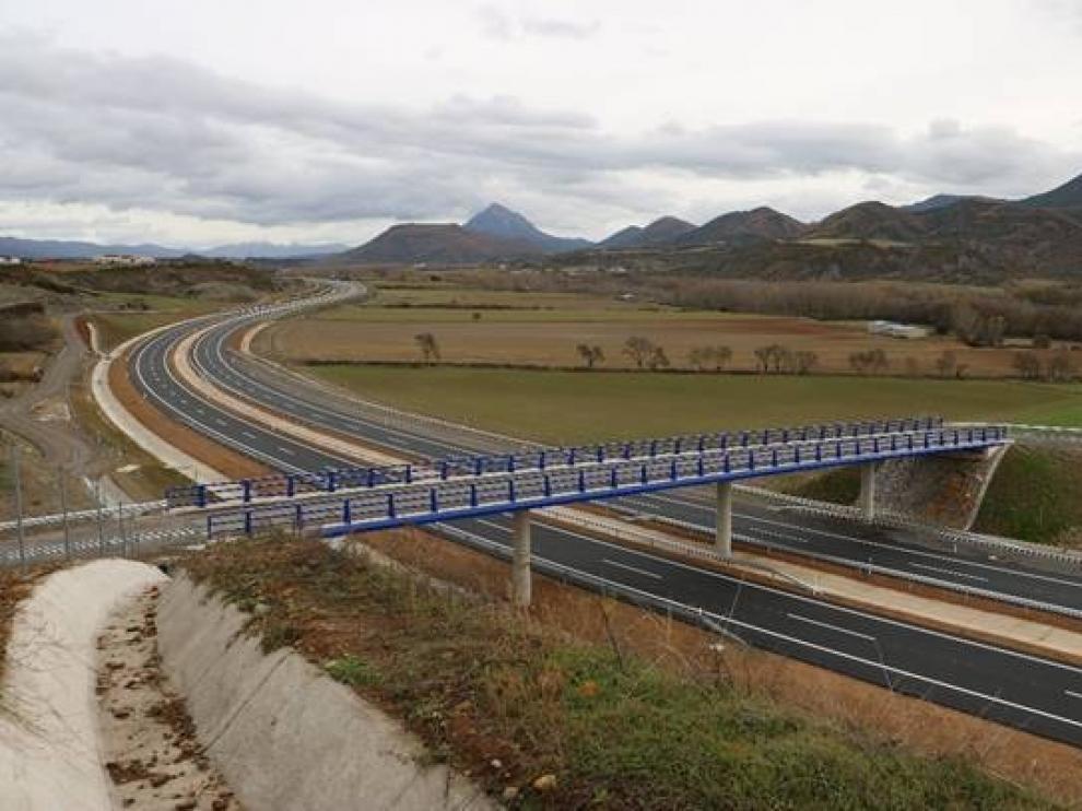 El jueves entra en servicio un nuevo tramo de la A-21, entre Santa Cilia y Puente la Reina de Jaca
