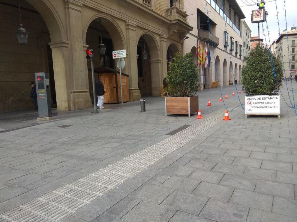 Cs pide una revisión del control de acceso a la zona peatonal de Huesca