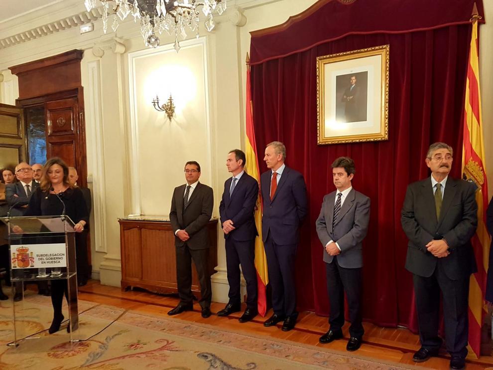 La Subdelegada del Gobierno apela en Huesca al respeto a la ley y el dialogo en el Aniversario de la Constitución