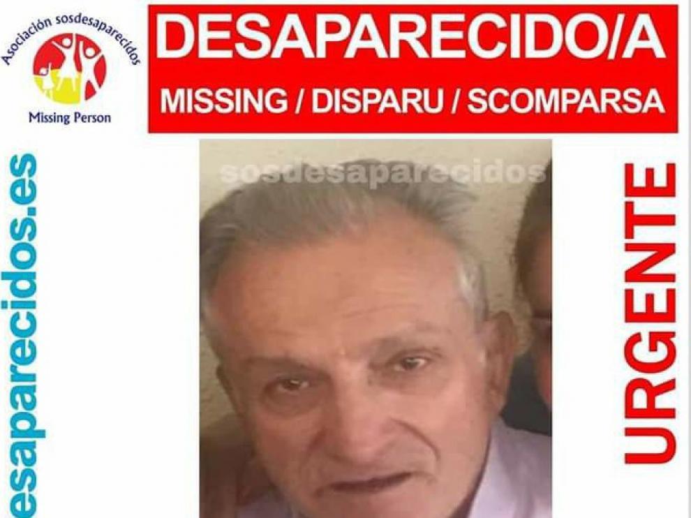 La familia de Virgilio Jiménez, desaparecido en Zaragoza, pide colaboración en su búsqueda