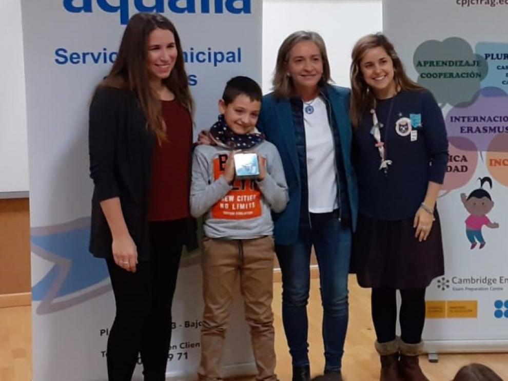 Un niño de Fraga premiado por investigar el ciclo del agua