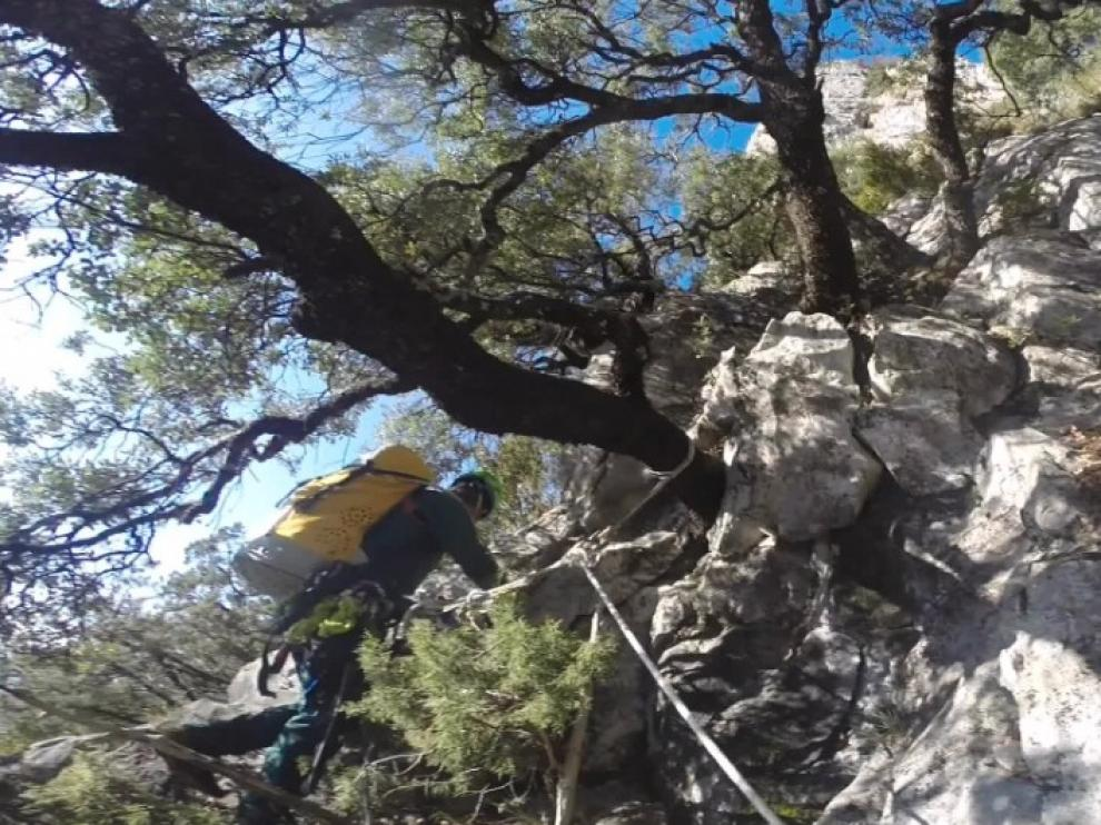 Rescatados dos escaladores y un esquiador en el Pirineo de Huesca