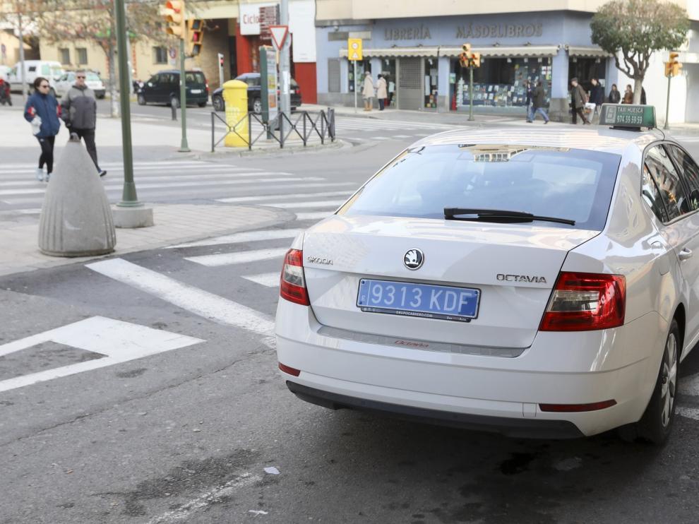 """Los taxistas de Huesca aseguran que el 98% de sus servicios son """"cero espera"""""""