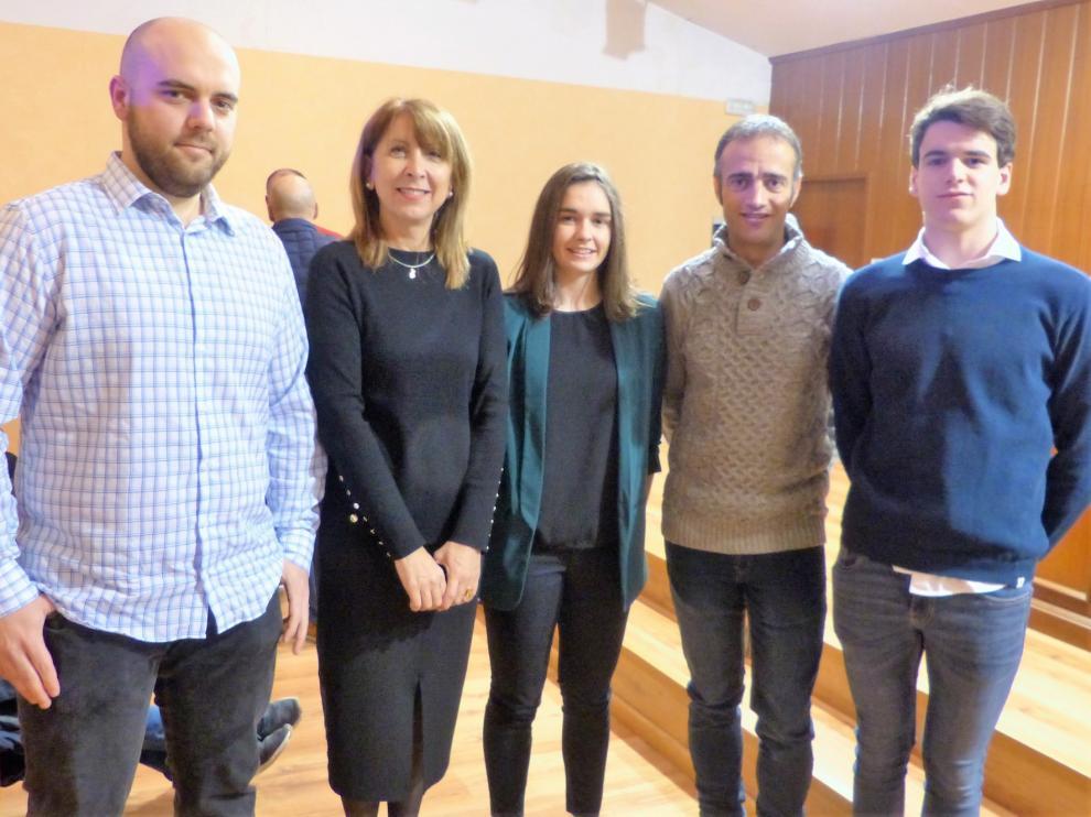 Sabiñánigo premia el esfuerzo de Rodríguez, Larrosa y Barrio