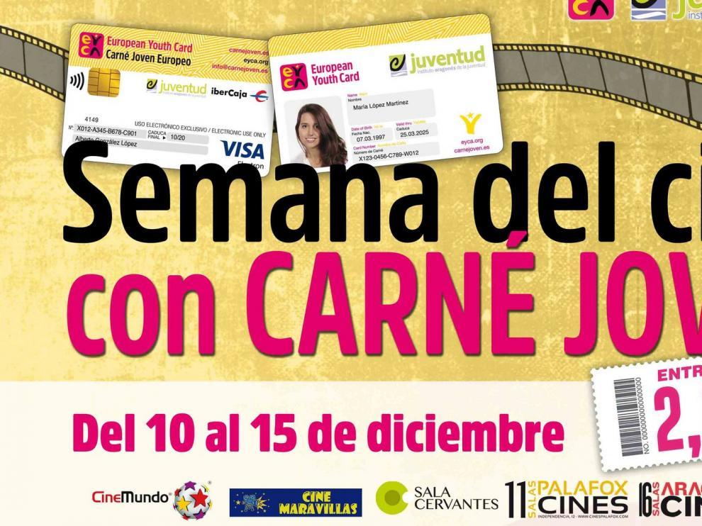 El Instituto Aragonés de la Juventud celebra la Semana del Cine con el Carné Joven