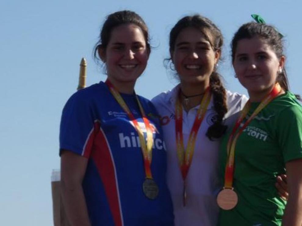 Plata y bronce para Iria Teijeira y Eva Rico en el Campeonato de España de marcha de invierno