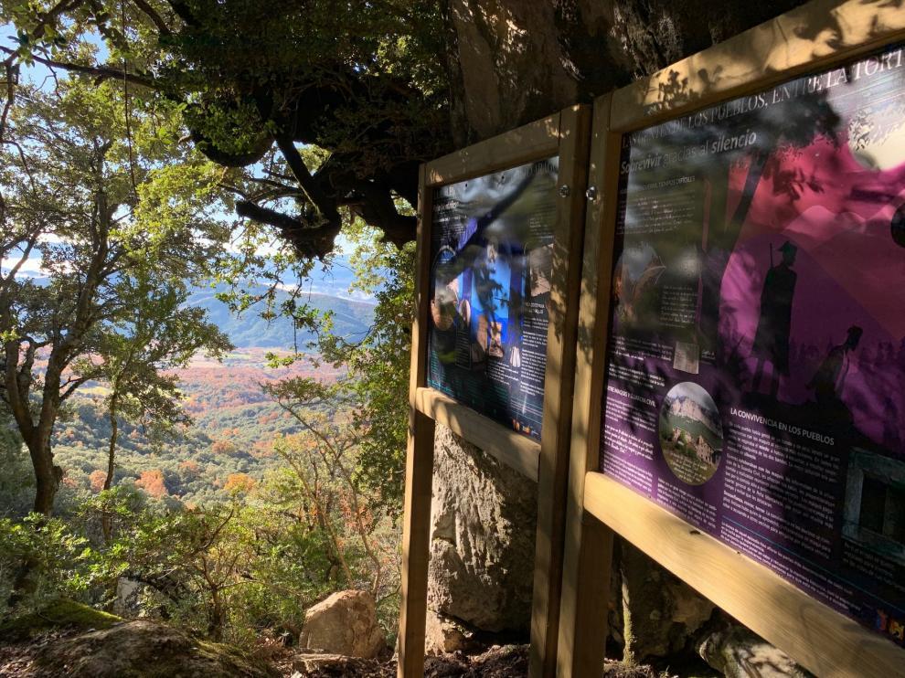 La DPH y el ayuntamiento de El Pueyo de Araguás recuperan el sendero del refugio de los maquis en la Peña Montañesa