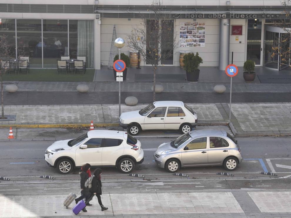 El efecto de la nieve llena los hoteles de Huesca durante el puente