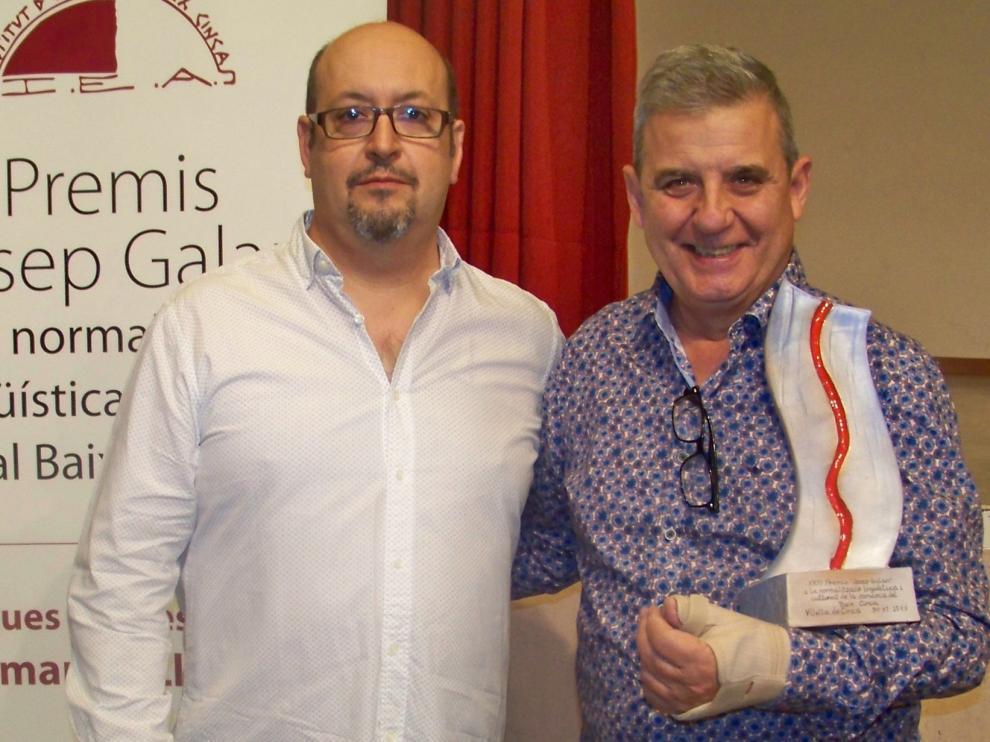 Ángel Cabrera, Premi Josep Galán del Institut d' Estudis del Baix Cinca