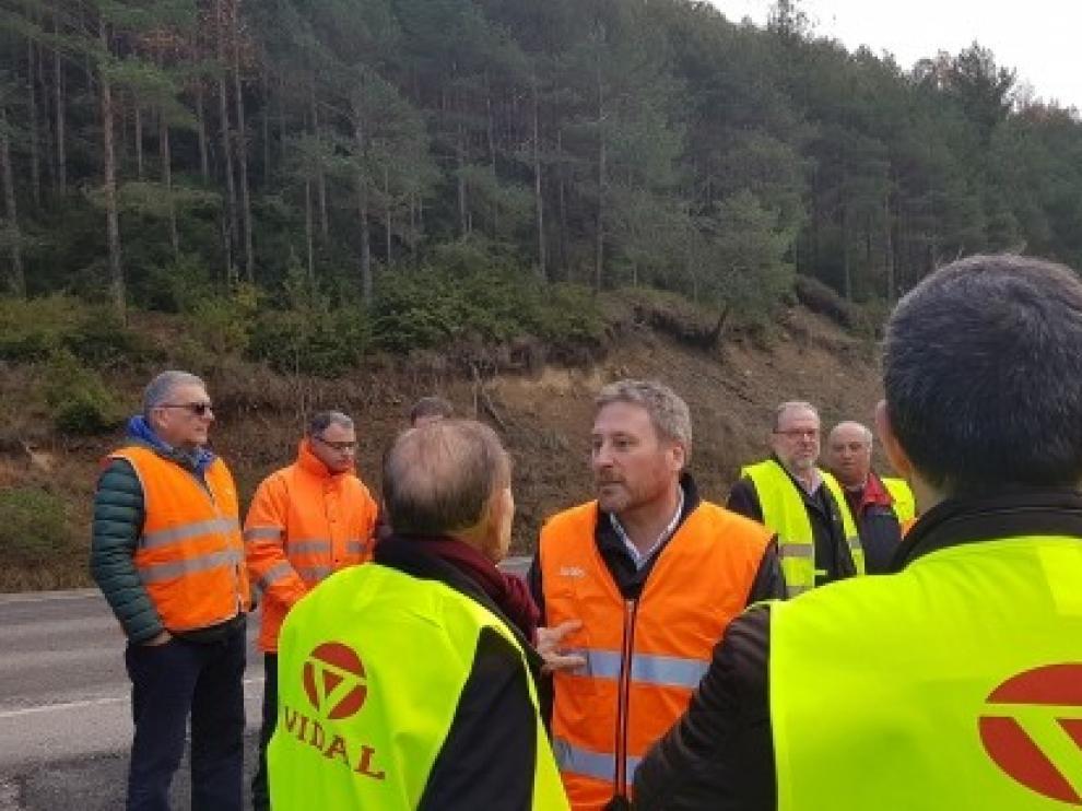 El Gobierno aragonés acomete la mejora de la seguridad de la carretera A-139 en Santaliestra