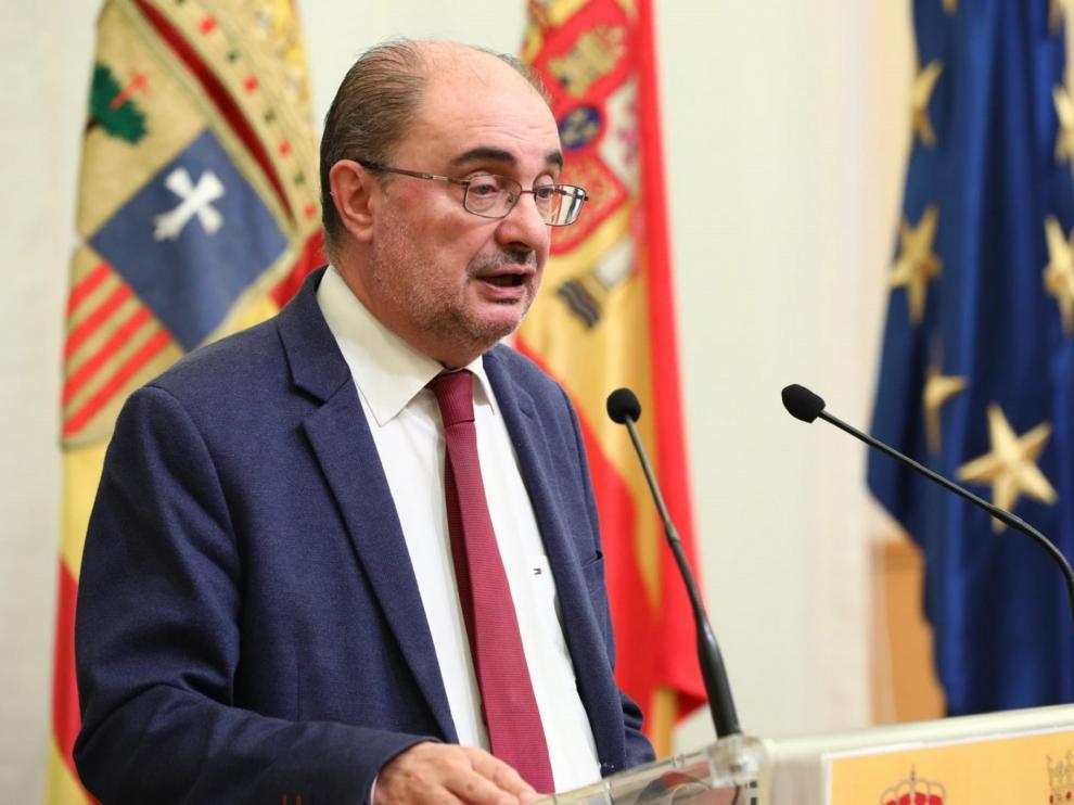 SENTENCIA DE LOS BIENES: Javier Lambán dice que las piezas nunca debieron salir de Aragón