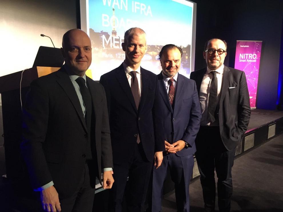 """El ministro francés de Cultura y el presidente de HENNEO defienden """"el periodismo de calidad"""""""